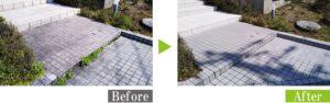 水垢・汚れのタイルを環境対応型特殊洗浄G-Eco工法で施工