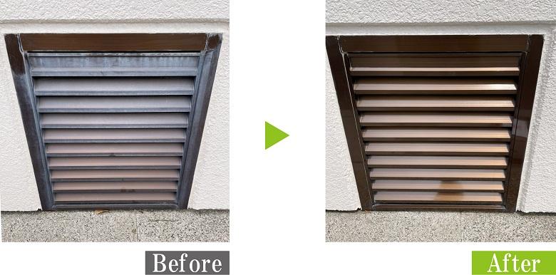 G-Eco工法でアルミ建材を施工、本来の色とツヤ再生