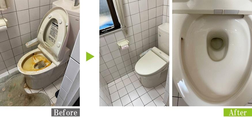 トイレの便器尿石除去